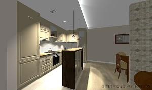 Wizualizacja wnętrza Kuchnia Jadalnia