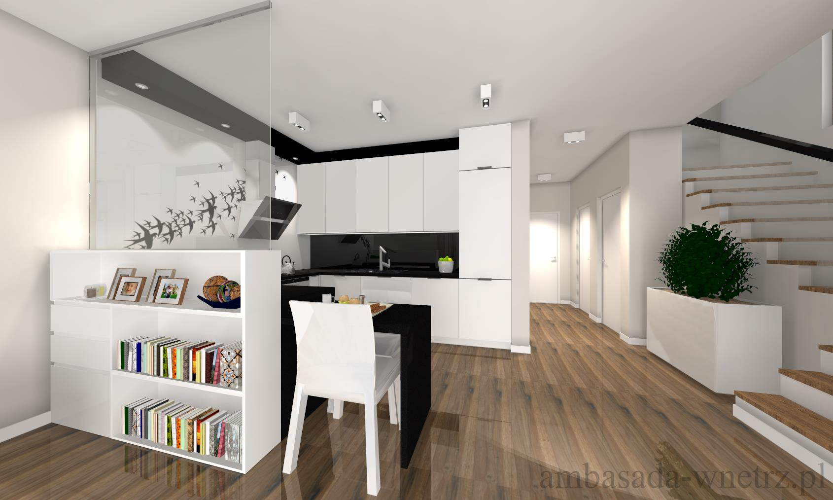 Dom z jaskółką Projektowanie wnętrz Podlaskie