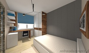 Wizualizacja wnętrza Sypialnia Pokój do pracy