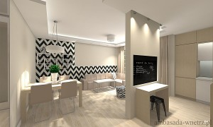 Dom w Zwierzyńcu - Salon Kuchnia