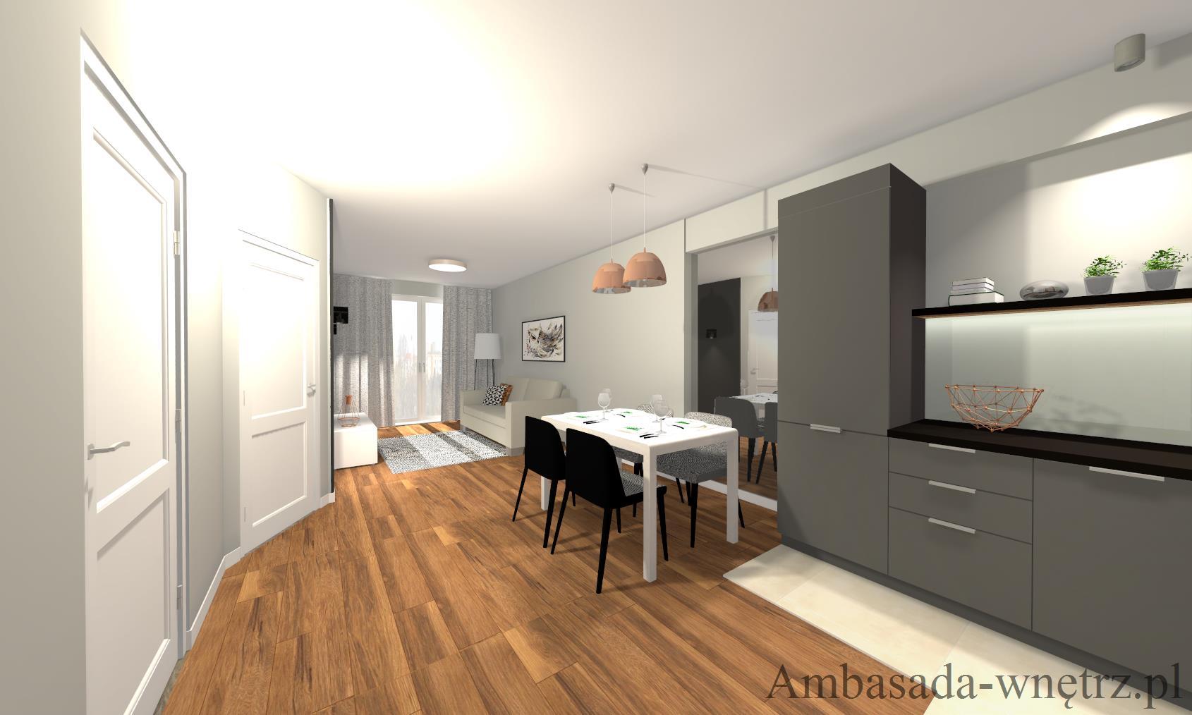 Apartament miedziany Projektowanie wnętrz Białystok